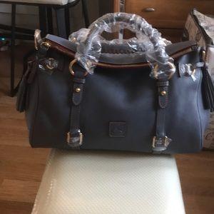 Dooney & Bourke Bags - Steel Blue NWT Dooney Florentine Satchel Medium